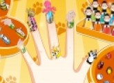 cute nails color with pets