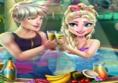 Elsa Jacuzzi Celebration new game for girls